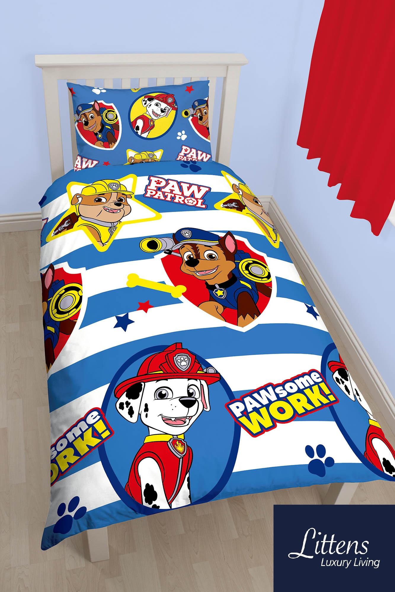Paw Patrol Pawsome Single Bed Duvet Cover Set   Littens