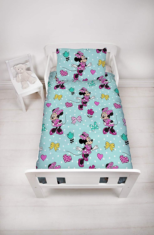 Disney Minnie Mouse Skip Junior Cot Bed Bedding Bundle (4 ...